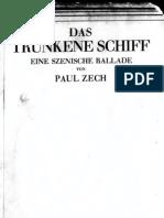 Zech_Das Trunkene Schiff [Rimbaud] - Eine Szenische Ballade (1920)