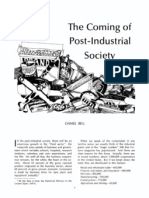 an analysis of the society by daniel bell Daniel bell postulated that the older humanistic ideologies derived  the end of ideology has been a landmark in  the coming of post-industrial society.