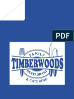 Timberwoods Family Restaurant and Catering's menu