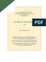 Brunschvicg Genie de Pascal
