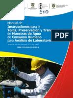Manual intrucciones toma, preservación y transporte de muestras agua