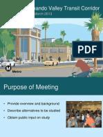East San Fernando Valley Transit Corridor scoping meeting PowerPoint
