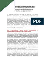 Manifiesto Contra La Nueva Ley de Bases (Documento Definitivo)
