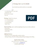 PRTC 2013 Fee Schedule