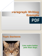 Paragraph Writing Example