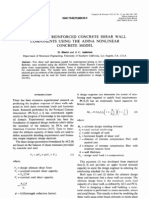 Analysis of Reinforced Concrete Shear Wall