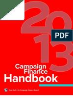 2013 Campaign Finance Handbook