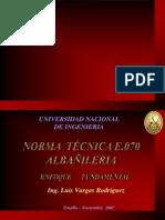 Norma de albañilería