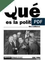 Callinicos, Alex-Que Es La Politica-1984
