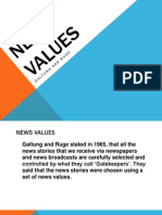 News Values Galtung and Ruge