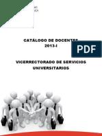 CatalogodeDocentes2013 I