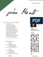 John Keats, Poemas em Português