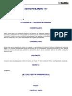 Decreto_1-87 Ley de Servicio Municipal