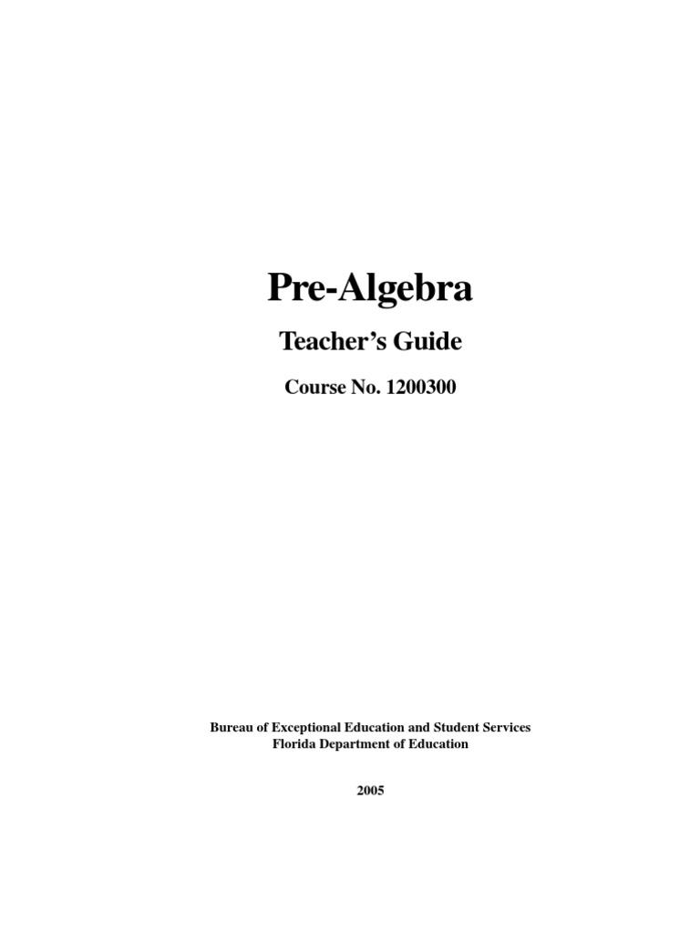 pre algebra teachers guide fraction mathematics multiplication