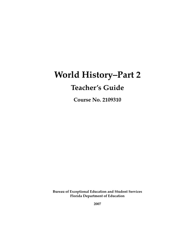 World History-Part II, Teachers\' Guide | Capitalism | Socialism
