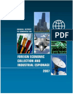 Annual Report to Congress Foreign Economic Collection and Industrial Espionage FY2007