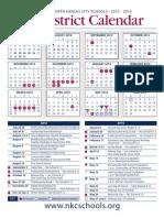 2013 2014 Academic Calendar Color