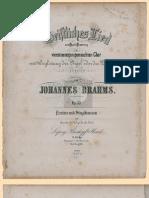 Brahms Opus030 Geistliches Lied