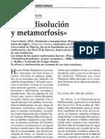106315289 Francisco Jarauta Conferencia 1911 Disolusion y Metamorfosis