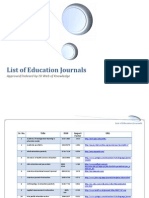 List of Education Journals