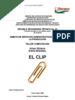 2381918 Analisis de Objeto Tecnico El Clip
