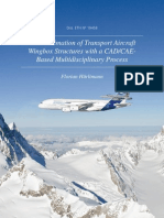 Mass Estimation of Transport Aircraft Wingbox Structure With a CAD-CAE Based Multidisciplinary Process