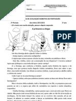 FICHA DE AVALIAÇÃO LP 2ºP 3º ANO versão2