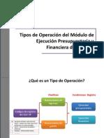 G. Tipos de Operaciones en El SIAF-SP 2012