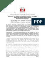 Nota de Prensa Servicio Militar 25 de Marzo DP