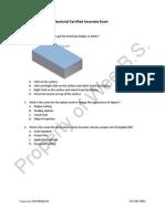 Autodesk Inventor Professional Certified Associate Exam