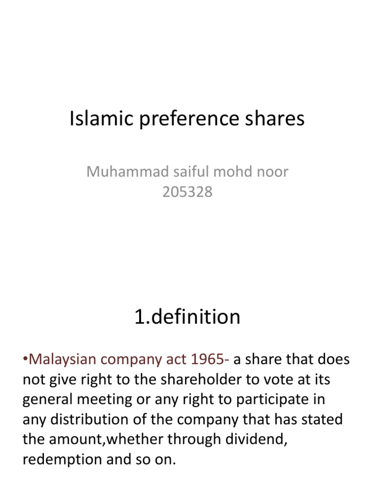 what is preference share