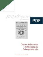 Montesquieu, la pensée dans son livre De l'esprit de lois