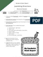 Sandwich BookReport