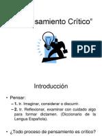 1. El Pensamiento Crítico