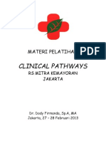 Clinical Pathways RS Mitra Kemayoran Jakarta 27-28 Februari 2013