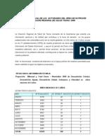 EVALUACIÓN ANUAL DE LAS ACTIVIDADES DEL ÁREA DE NUTRICIÓN 2006