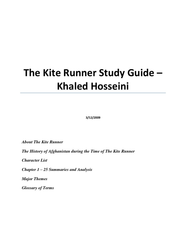 the kite runner summary sparknotes characters a level ib english  the kite runner study guide