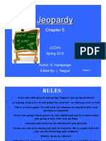Math Analysis Chapter 5 Jeopardy