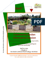 Sustainable Food Edmonton - Community Garden Info Session