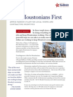 Annise Parker Houston First Policy Brief