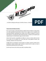 Cronica El Desafio