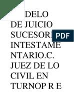MODELO de Juicio Sucesorio Intestamentario