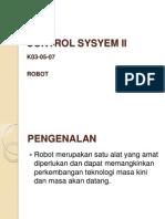 Control Sysyem Ii_robot