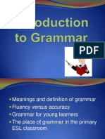 W1 Lecture Definition of Grammar