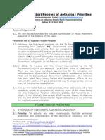 TROTR Priorities Paper, WCIP Prep Meeting, Sydney_19-21mar2013