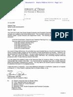 Stephen Tapp v. The University of Texas Health Science Center at Houston School of Dentistry - Dismissal Letter