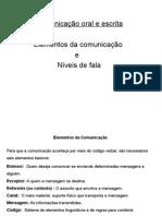 Slides - comunicação oral e escrita