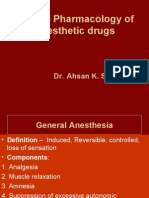 Anesthesia Pharmacology
