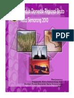 Buku PDRB Kota Semarang 2010