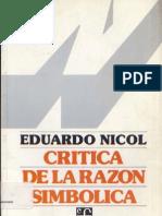 Nicol, E., Crítica de la razón simbólica